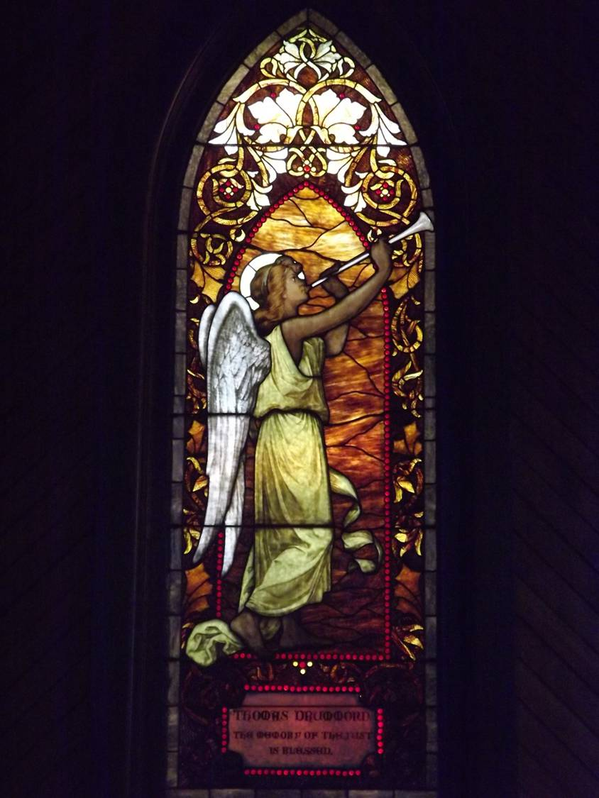 picture of angel window
