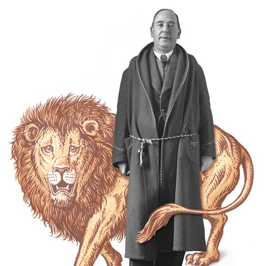 picture of c.s. lewis and lion
