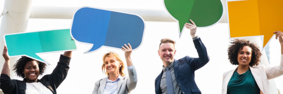 picture of people with talk balloons